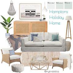 My KInd of Bliss Mood Board- Hamptons Home/ Coastal Home/ Beach House Decor Beach Cottage Style, Coastal Cottage, Coastal Homes, Beach House Decor, Coastal Style, Coastal Decor, Modern Coastal, Home Design, Home Interior Design