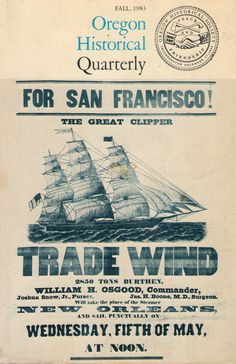 Trade Wind advertisement, Captain Nathaniel Webber