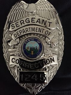 Sergeant Badge, Idaho Department Of Correction.