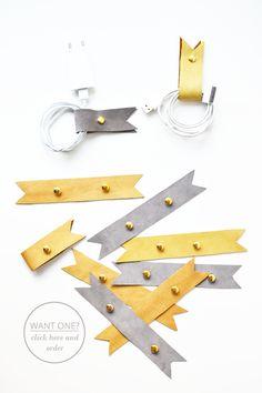 diy {cord holders}