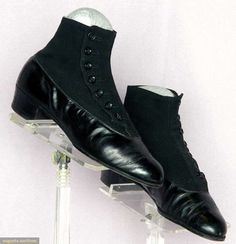 Mens' High Button Shoes, Germany, C. 1910, Augusta Auctions, April 9, 2014 - NYC
