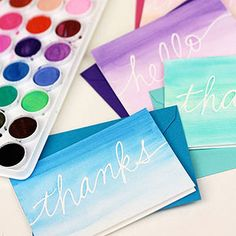 Make your own cards to send to friends and family with these fun ideas shared by @twotwentyone !