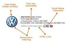 Création signature électronique en HTML pour e-mail Responsive Web Design