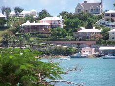 Pink Houses in Bermuda