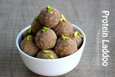 healthy and tasty protein laddoo made with black gram,finger millets flour.These laddus are very nutritious. Baby Food Recipes, Sweet Recipes, Cooking Recipes, Healthy Recipes, Cheese Recipes, Healthy Foods, Yummy Recipes, Healthy Eating, Indian Dessert Recipes