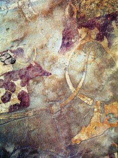 Pintura Rupestre África. Un estudio liderado por la Universidad de Bristol ha descubierto la primera prueba inequívoca de que los seres humanos prehistóricos utilizaron ganado para conseguir leche hace cerca de 7.000 años en el norte de África.