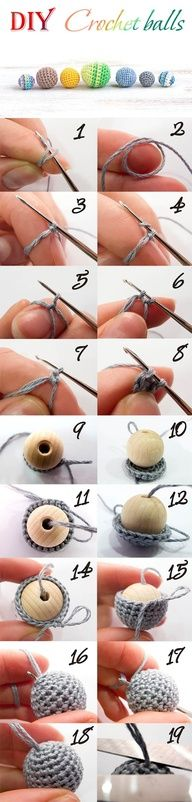 How to make a crochet ball