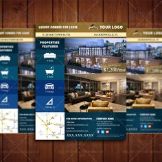 For Lease Condo Real Estate Marketing, Apartment Space Listing Flyer Template, Realty Marketing Template by Real Estate Lead Generator