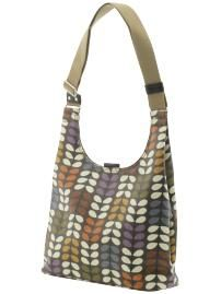 bag by Orla Kiely. 3% leather (I guess the trim?)