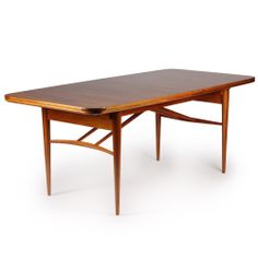Robert Heritage; Rosewood and Teak Dining Table for Archie Shine, 1951.