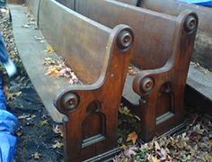 Church pews for sale.