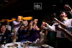 Wedding reception celebrations ramp it up as the night progresses at the Paradisus Playa del Carmen Resort  ~~ MTM Photography in Mayan Riviera Wedding Photographer. Wedding Photographer photos in Cancun, Playa del Carmen, Puerto Morelos, Puerto Aventuras and Tulum. www.MomentsThatMatterPhotography.com