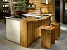 cuisine contemporaine en bois par L'Ottocento