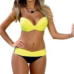 Swimsuits 2017 Sexy Bikinis Push Up Swimwear Women Swimsuit Bandeau Beach Bathing Suits Brazilian Plus Size Bikini Set Biquini Color: Swimsuits 8 Size: L