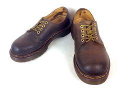 Dr Martens Shoes Leather Brown England Lace Up Original Oxfords Mens US 10 UK 9 | eBay