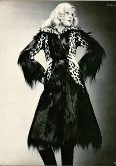 seventies fur coat .L'Officiel 1971