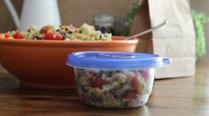 Zesty Quinoa Salad Allrecipes.com.   I've been wanting to try quinoa and this sounds easy and yummy.