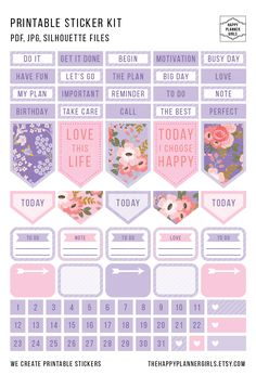 Beautiful April Planner Sticker Kit, available for both Happy Planner and Erin Condren #stickers #planner