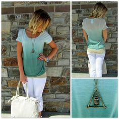Ombré top. Great Business casual.