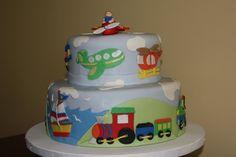 Baby Shower Vehicles Cake