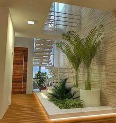 inspiration unique ideas for indoor garden under stairs 10 Patio Interior, Home Interior Design, Interior And Exterior, Exterior Design, Room Interior, Interior Ideas, Escalier Design, Inside Garden, Container House Design