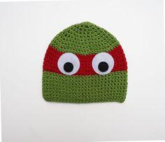 Kids toddler Ninja Turtle winter hat, size 3-6 years, boys crochet hat on Etsy, $24.00