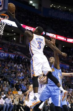 Oklahoma City's Dion Waiters (3) shoots a lay up during the NBA preseason basketball game between the Oklahoma City Thunder and the Denver Nuggets at Chesapeake Energy Arena, Sunday, October 18, 2015. Photo by Sarah Phipps, The Oklahoman