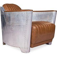 fauteuil au design unique ligne extr me mariage parfait de cuir vintage et d une structure. Black Bedroom Furniture Sets. Home Design Ideas