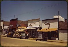 *On main street of Cascade. Cascade, Idaho, July 1941. Reproduction from color slide. Photo by Russell Lee. Prints and Photographs Division, Library of Congress