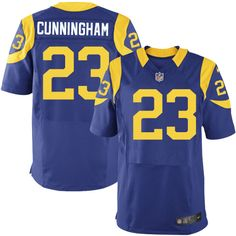 Men's Nike Los Angeles Rams #23 Benny Cunningham Elite Royal Blue Alternate NFL Jersey