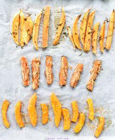 Pieczone frytki warzywne dla dzieci (rozszerzanie diety)