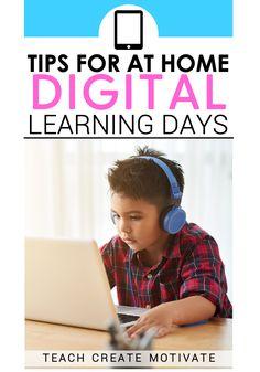 Tips & Freebies for Digital Learning Days - Teach Create Motivate Kids Learning Activities, Home Learning, Learning Resources, Teacher Resources, Teaching First Grade, Help Teaching, Teaching Ideas, Google Classroom, Classroom Ideas