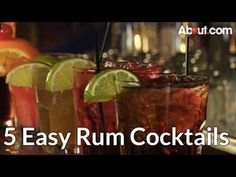 How to Make 5 Easy Rum Cocktails - YouTube