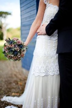A Claire Pettibone Tiered Lace Wedding Dress for a 1920's Inspired Wedding... - Love My Dress Wedding Blog
