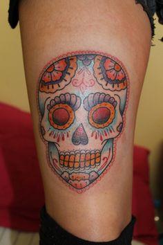 Kind of like the look of sugar skull tattoos