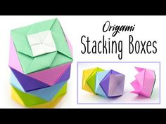 Origami Stacking Boxes Tutorial ♥︎ Paper Kawaii - YouTube