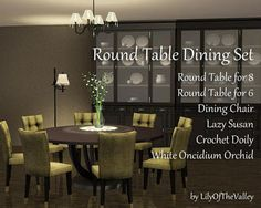 My Sims 3 Blog: LilyOfTheValley's Round Table Dining Set