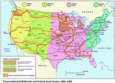 transcontinental railroad map Transcontinental US Railroads