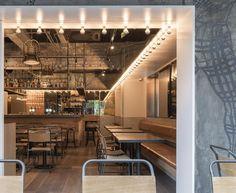 Bistrô Tribeca, em Shanghai, China. Projeto de Linehouse.