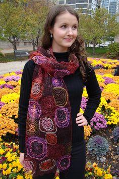Eco Silk Scarves. Needs some felt!