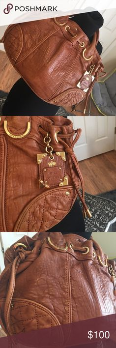 Leather Juicy Couture Purse Camel leather and gold Juicy Couture Purse. Comes with strap to wear it on shoulder or cross body Juicy Couture Bags Hobos
