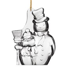 Beautiful 2013 Waterford Snowman Ornament - Ornament Reviews