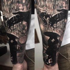 Tattoo artist Damon Holleis , color and black and grey portrait tattoo realism   Sydney, Australia