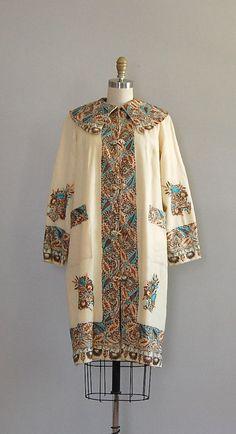 Egyptian Revival Coat, 1920's
