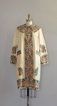 Stunning Vintage Egyptian Revival coat.
