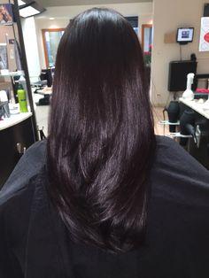 Violet Black Hair, Soft Black Hair, Warm Brown Hair, Dark Purple Hair, Hair Color For Black Hair, Brown Hair Colors, Dark Hair, Dying Hair Black, Beautiful Long Hair