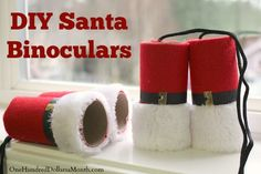 Do you have little ones who love to try to spot Santa on Christmas Eve?  If so, they totally need some Santa binoculars.  I found these on Meri Cherry, and thought they would be so fun to give to some of the kids in the neighborhood.  {I'm sure little...