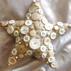 Shabby Chic  Button Tree Topper