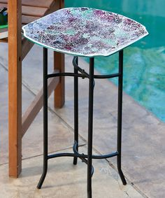 Take a look at this Mauve & White Mosaic Table by Evergreen on #zulily today!38