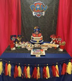 Love this Paw Patrol birthday party! See more party ideas at CatchMyParty.com!